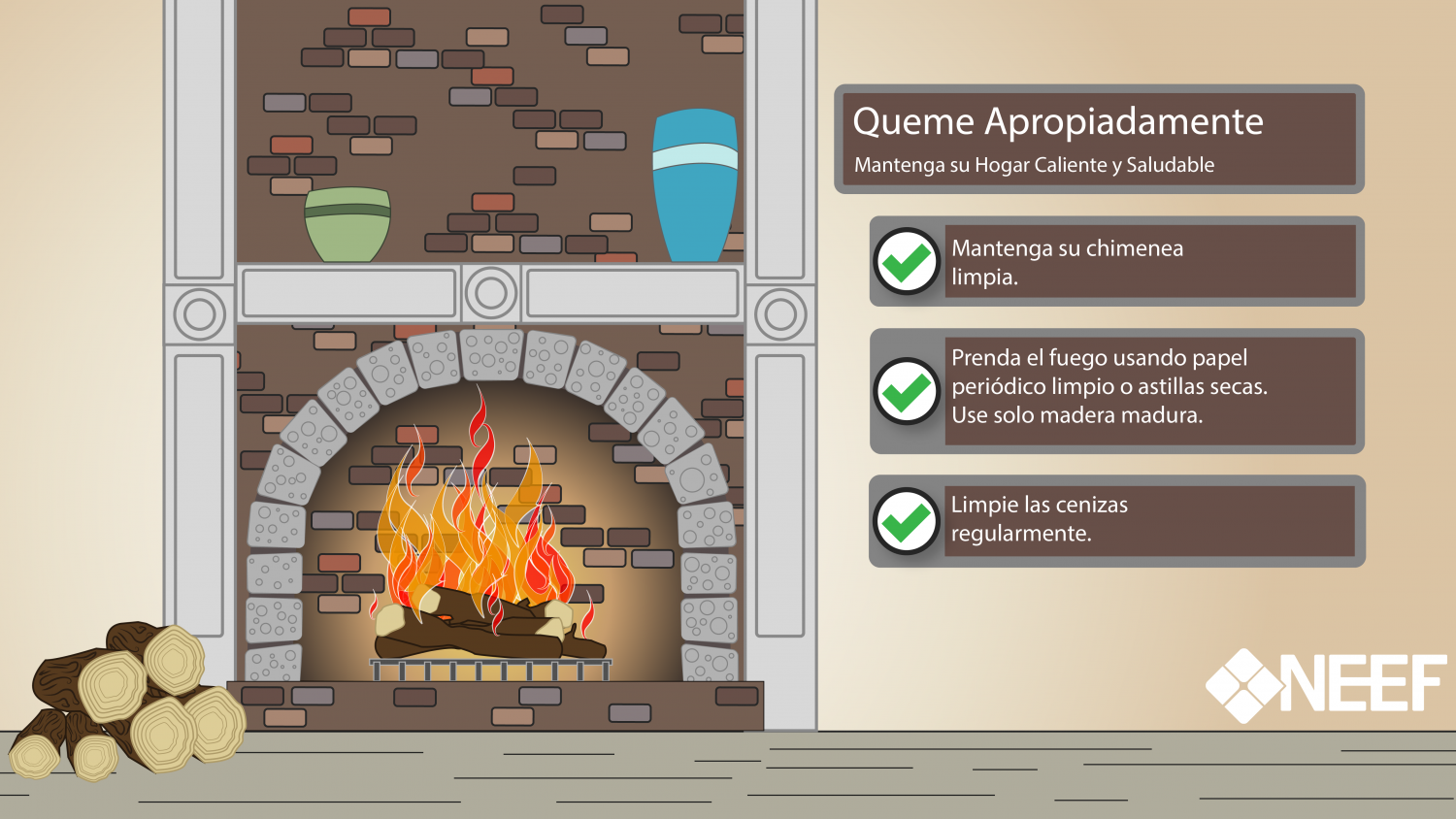 Burn wisely infographic in Spanish