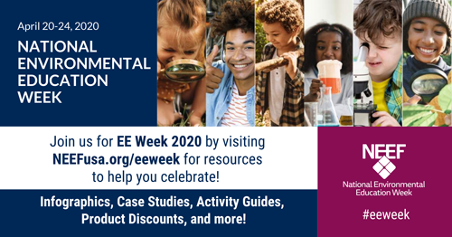 NEEF's National Environmental Education Week horizontal graphic