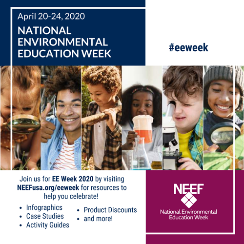 NEEF's National Environmental Education Week square graphic