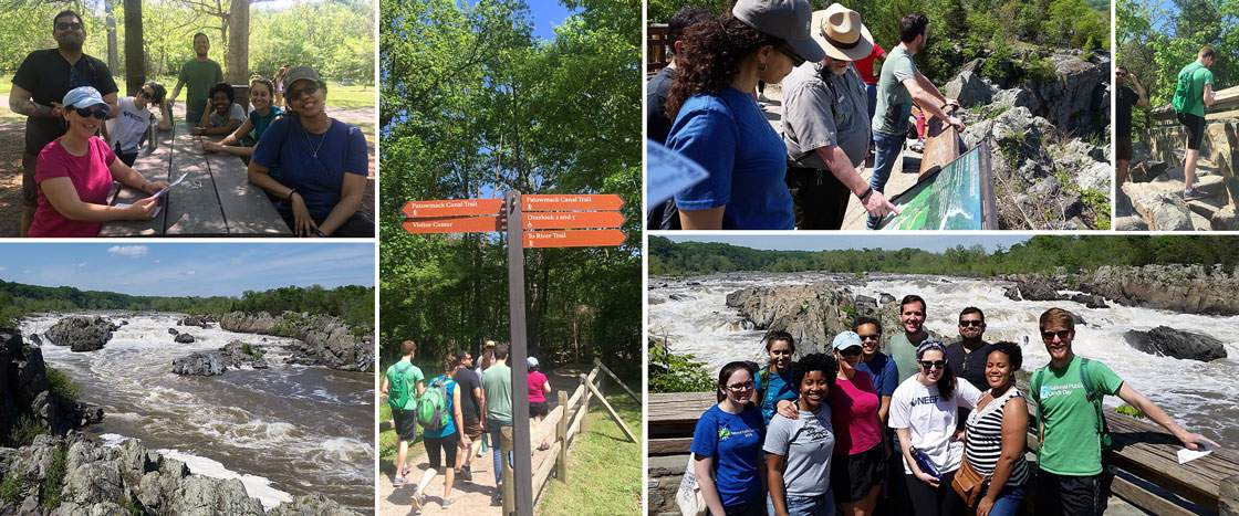 NEEF staff celebrate EE Week 2017 at Great Falls National Park