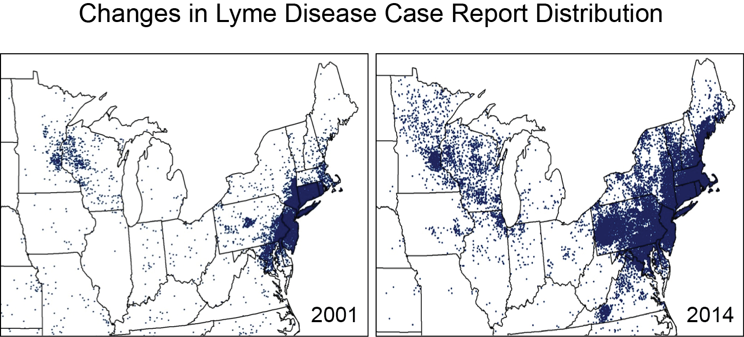 Changes in Lyme Disease Case Report Distribution