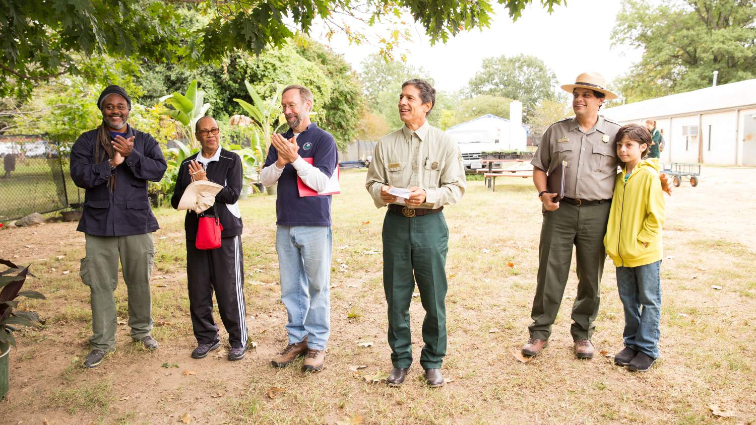 Alan Spears and others at the Kenilworth Aquatic Gardens NPLD Event in 2015