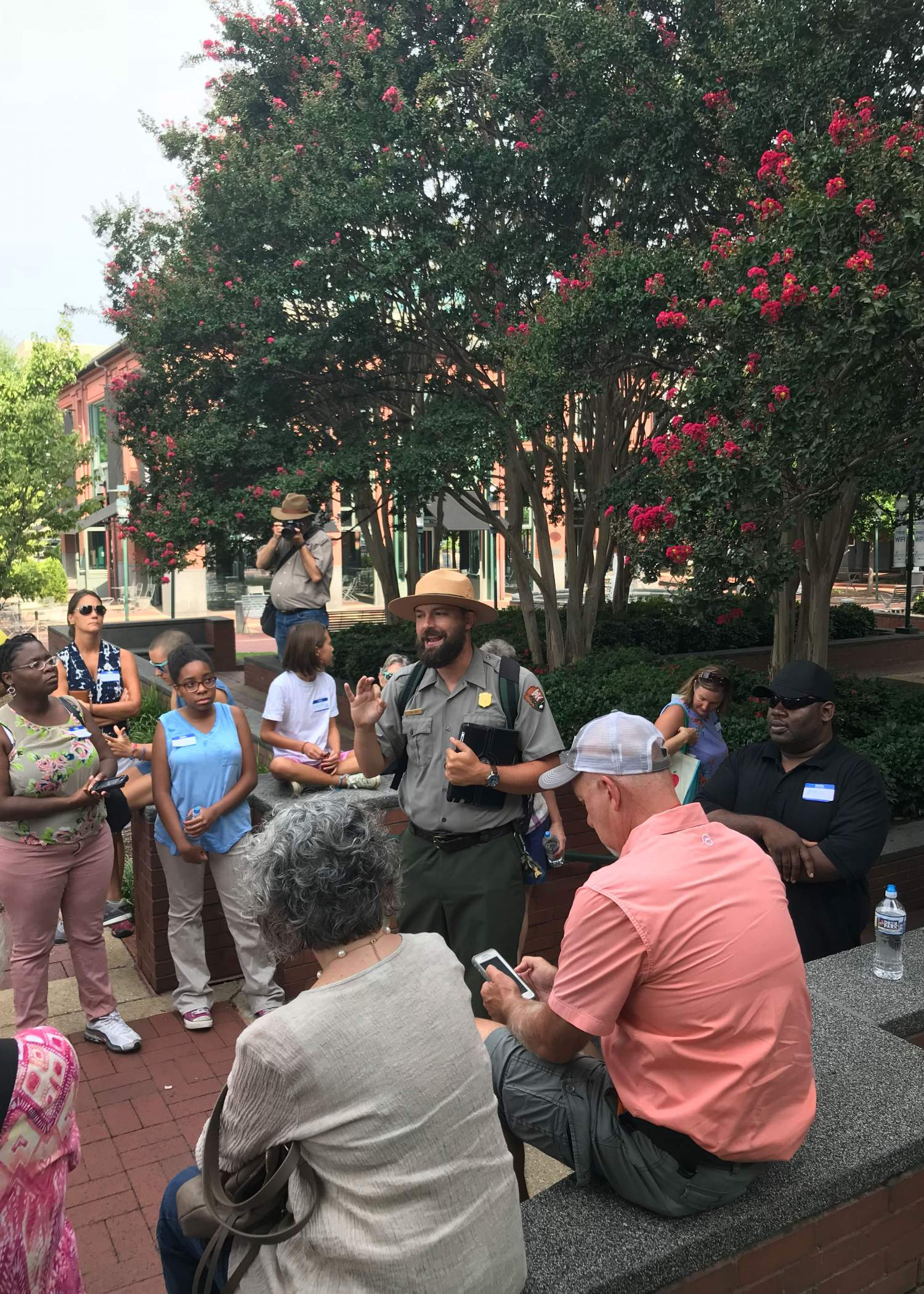 A park ranger providing a guided tour of Moccasin Bend National Park and other historical places at Chattanooga