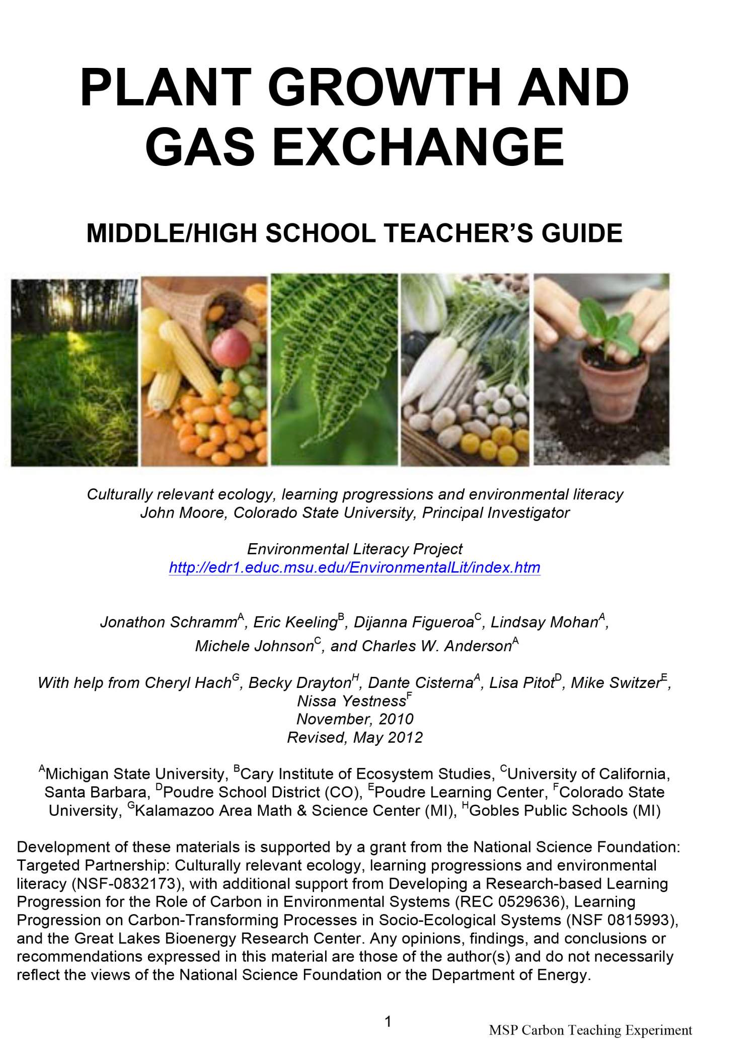 Plant Growth and Gas Exchange