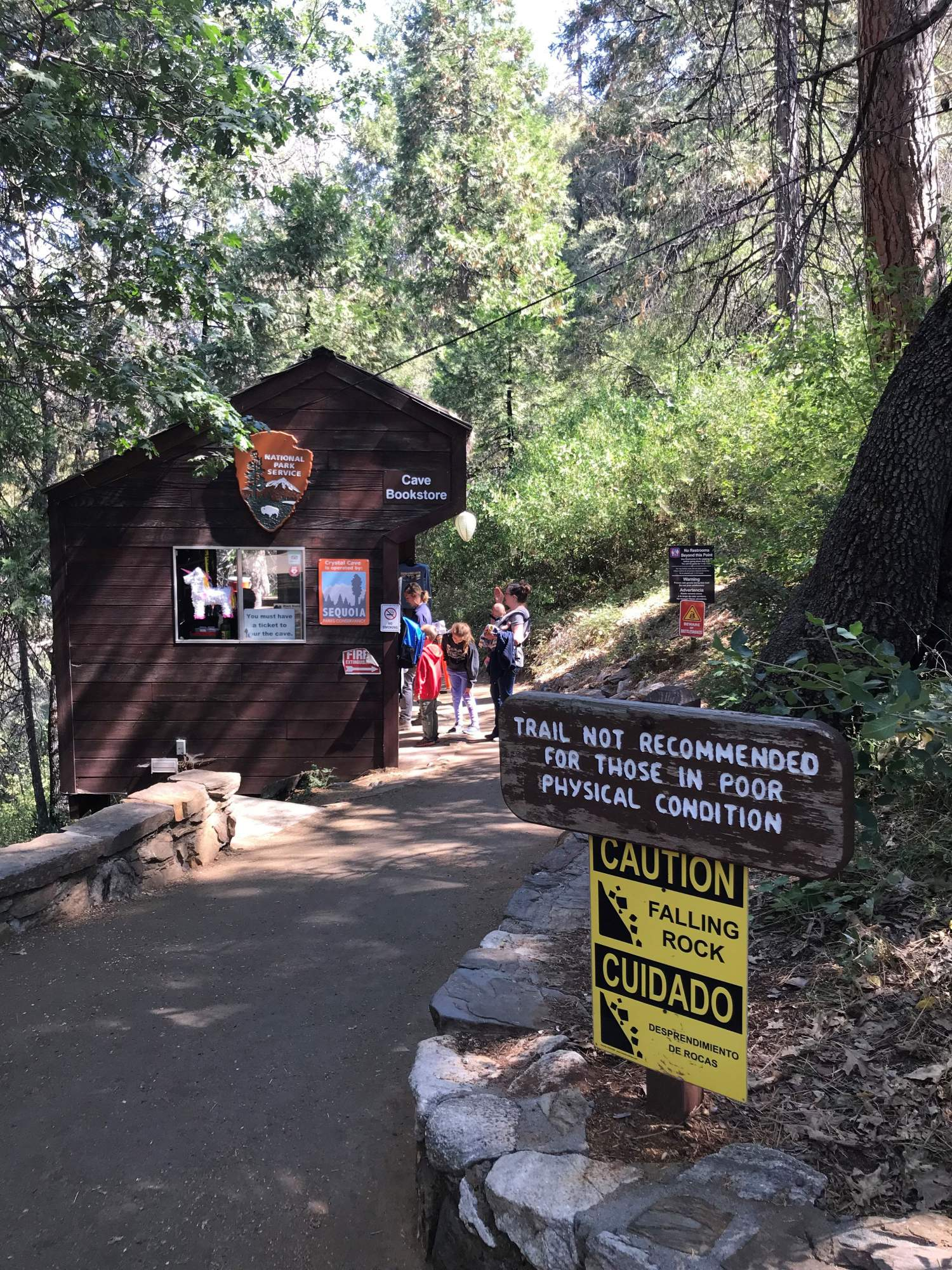 Camp bookstore and trail at Sequoia National Park