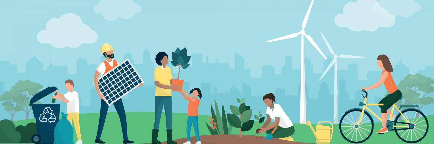 Community engaging in sustainability