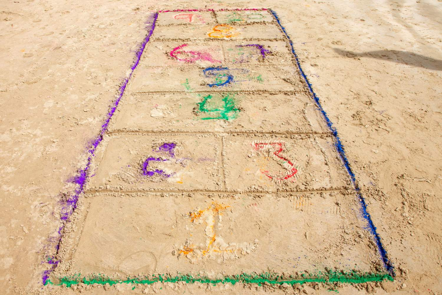 Hopscotch on the beach
