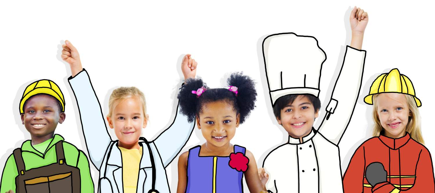 Kids as different professions
