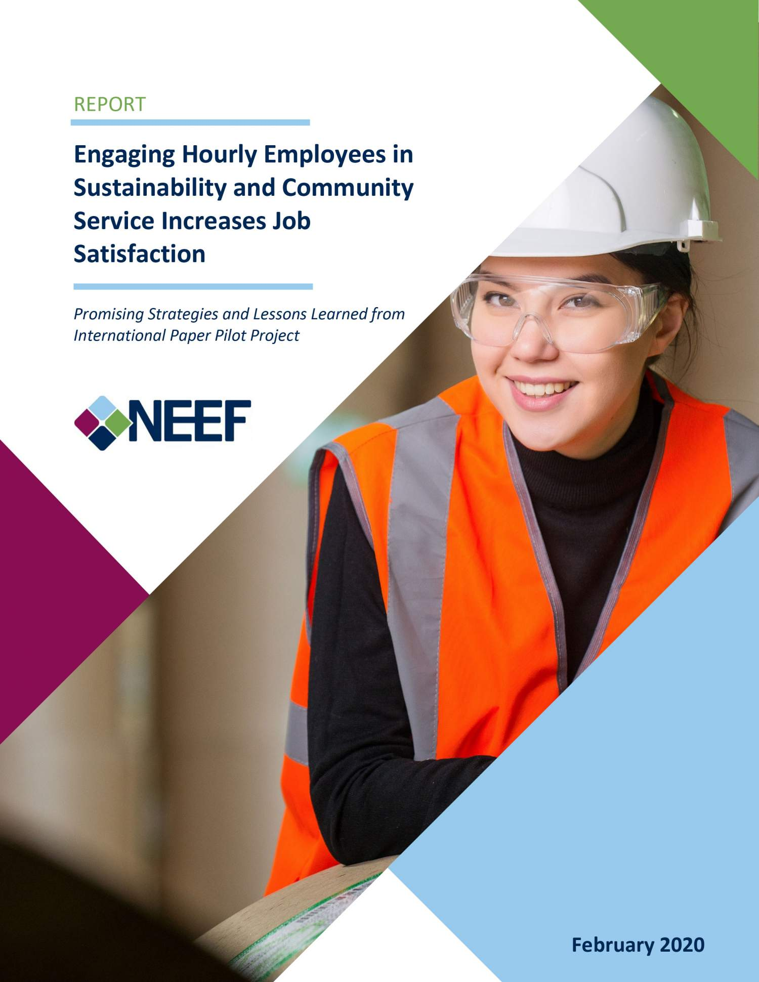Engaging Hourly Employees in Sustainability and Community Service Increases Job Satisfaction