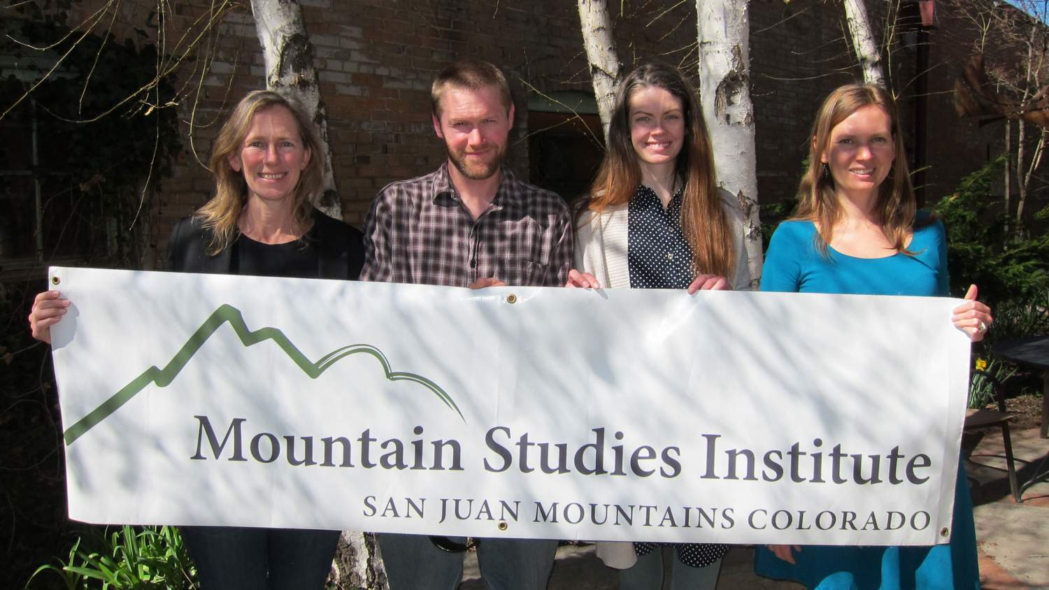 Mountain Studies Institute volunteers at an event