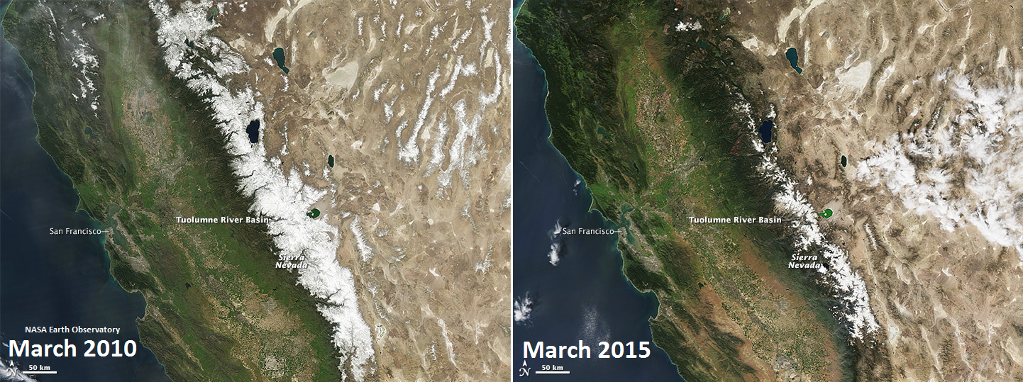 Diminishing Snowpack in the Sierra Nevada