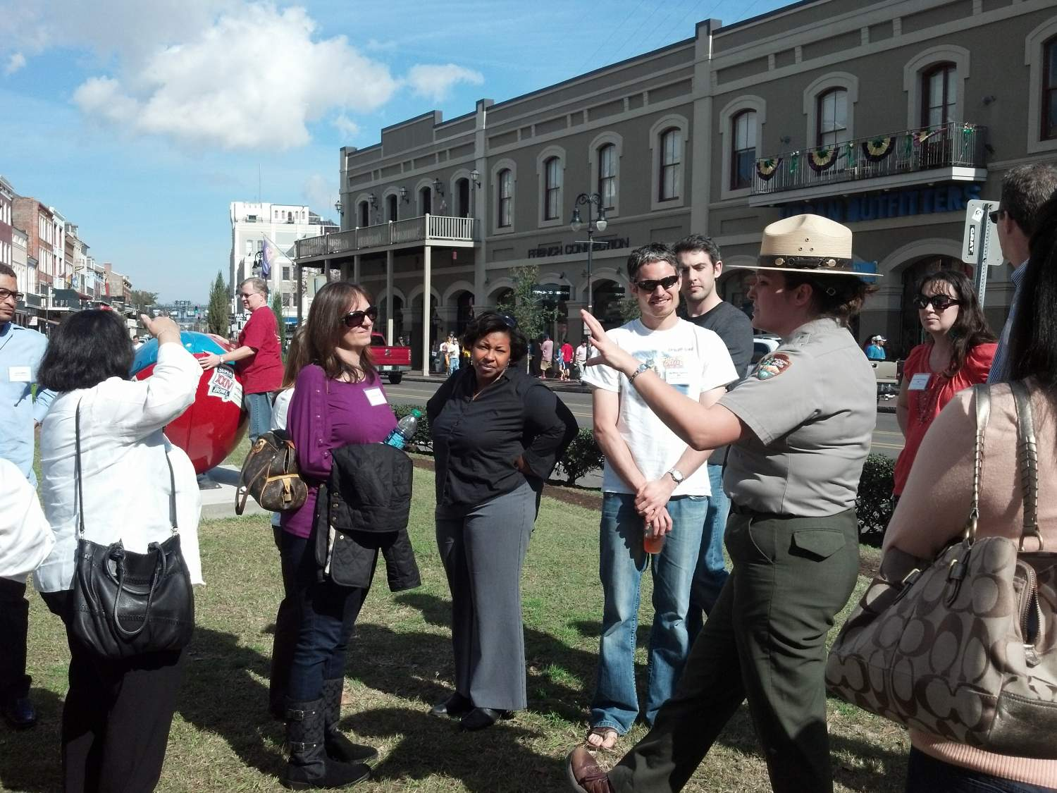 NPS Ranger Leads Health Care Providers on a Nature Walk