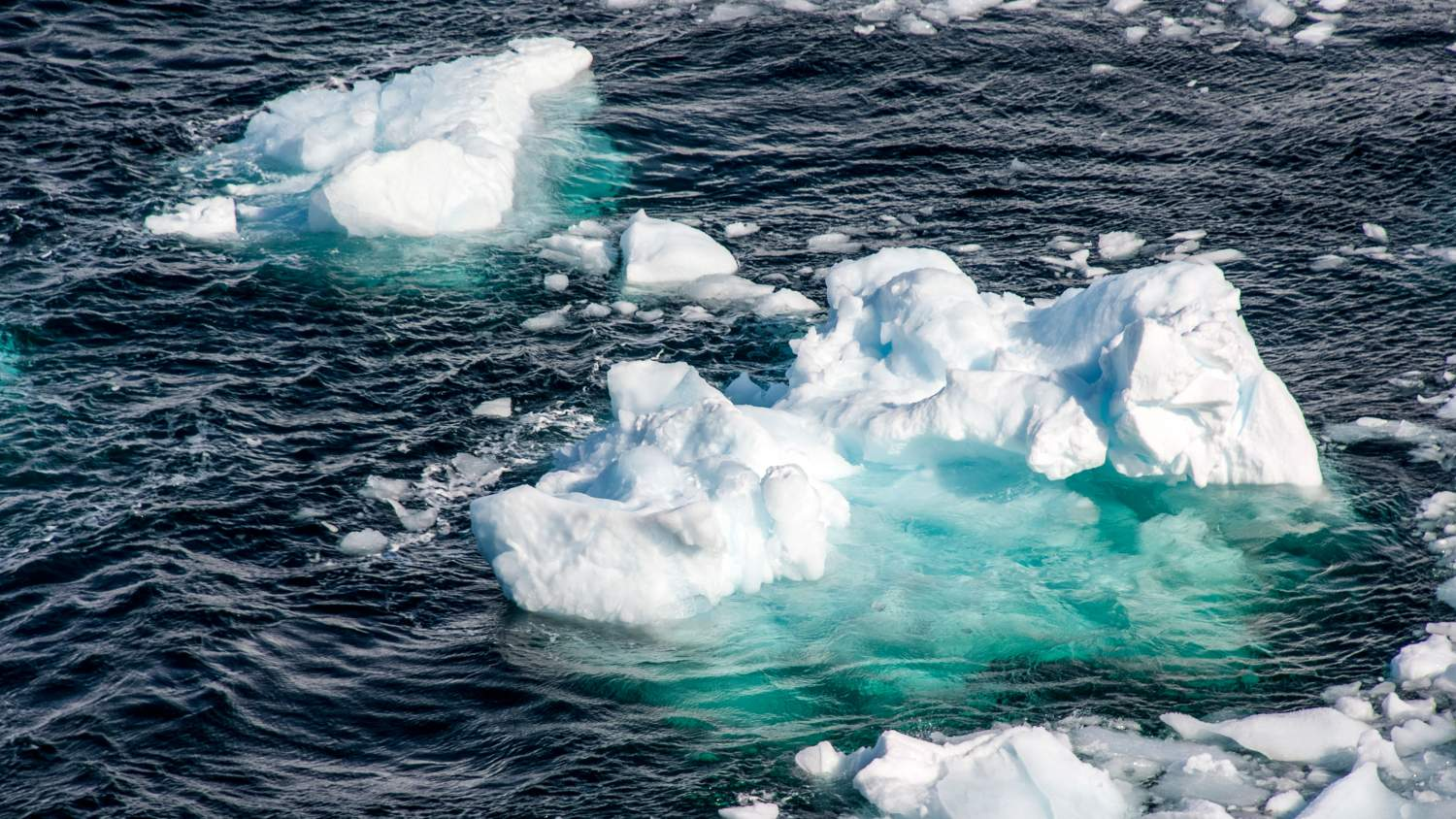 Sea ice in the ocean