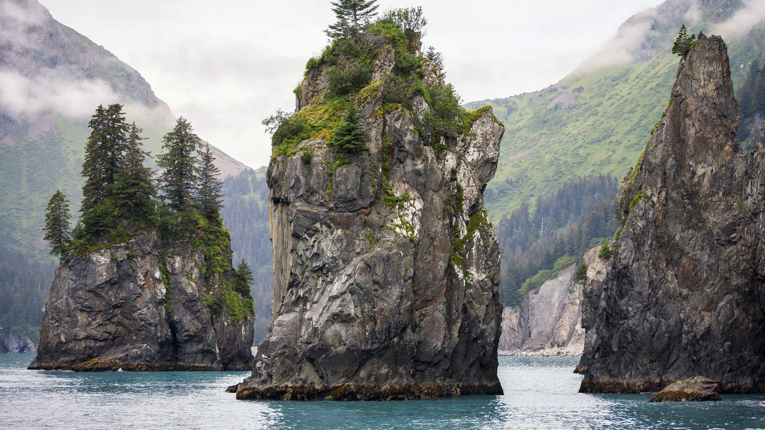 Sea Stacks at Kenai Fjords National Park