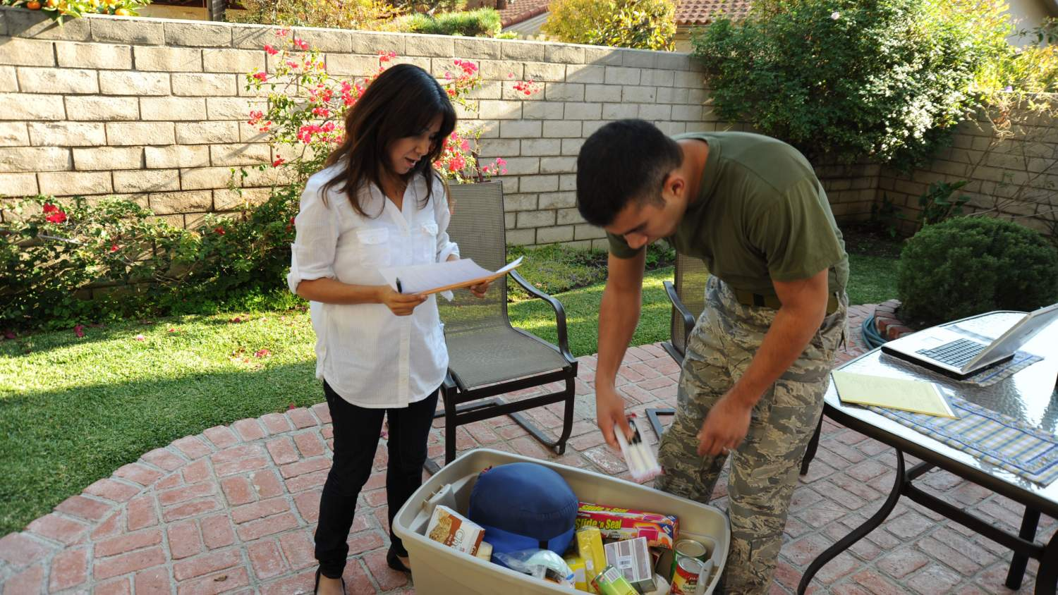 Family planning and packing up a disaster preparedness kit