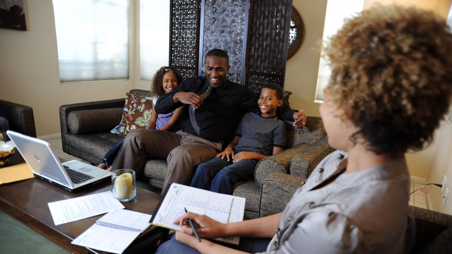 Family preparing a plan together