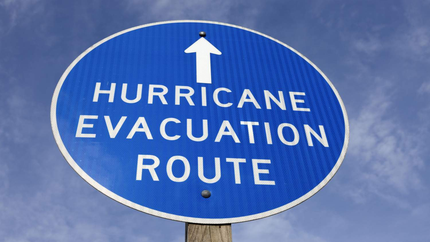 Sign: Hurricane Evacuation Route