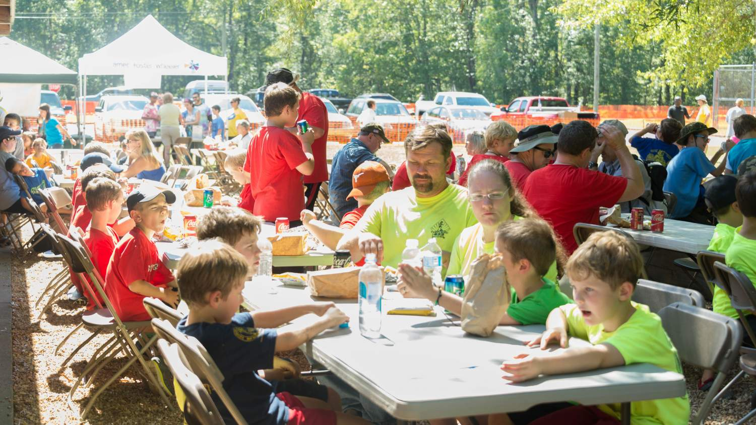 Group family picnic lunch at Great Lake Allatoona Clean Up