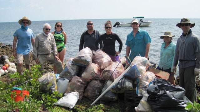 Suzy Pappas, Director of Coastal Cleanup Corporation, at an NPLD event in Biscayne National Park