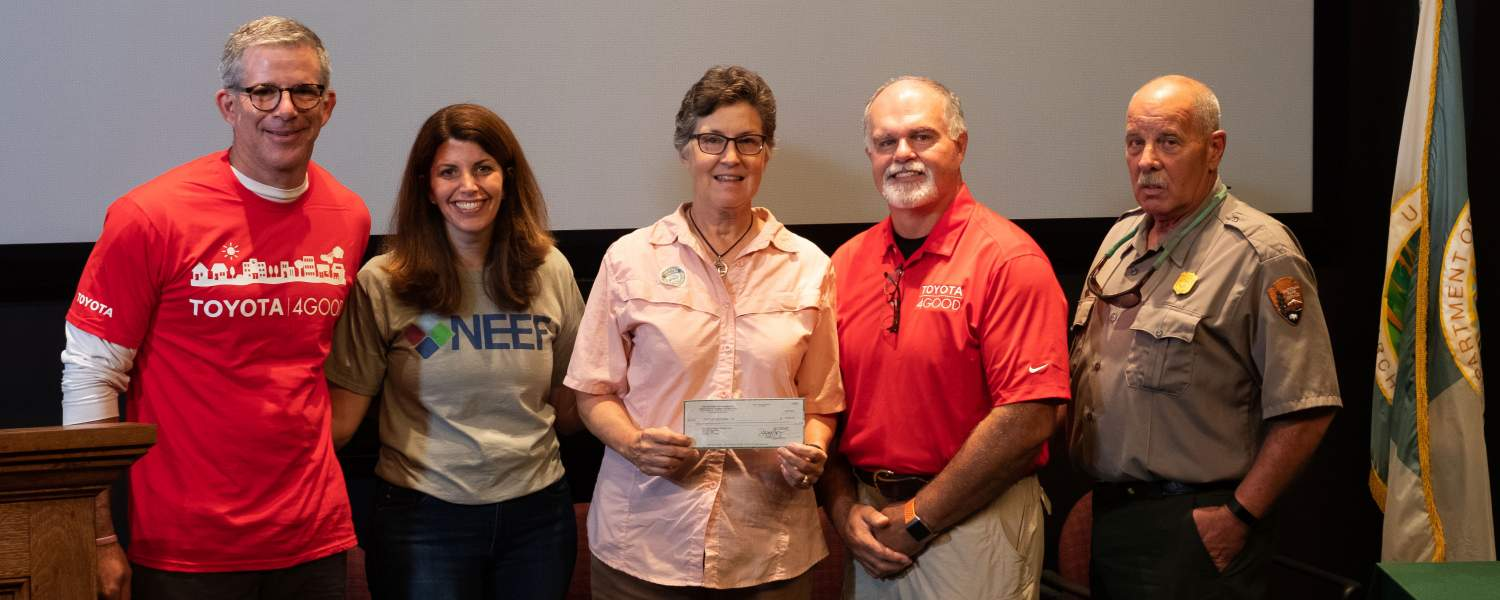Big Thicket Restoration and Resilience Grant check ceremony