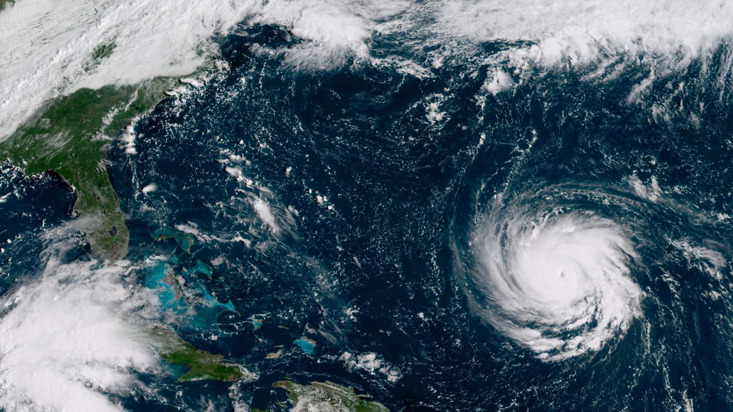 Hurricane Florence approaching the US Coast