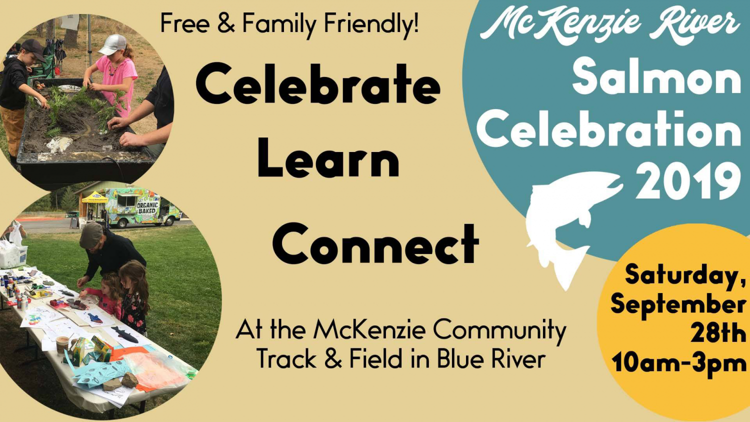McKenzie River Salmon Celebration 2019 - Saturday, September 28th: 10am-3pm