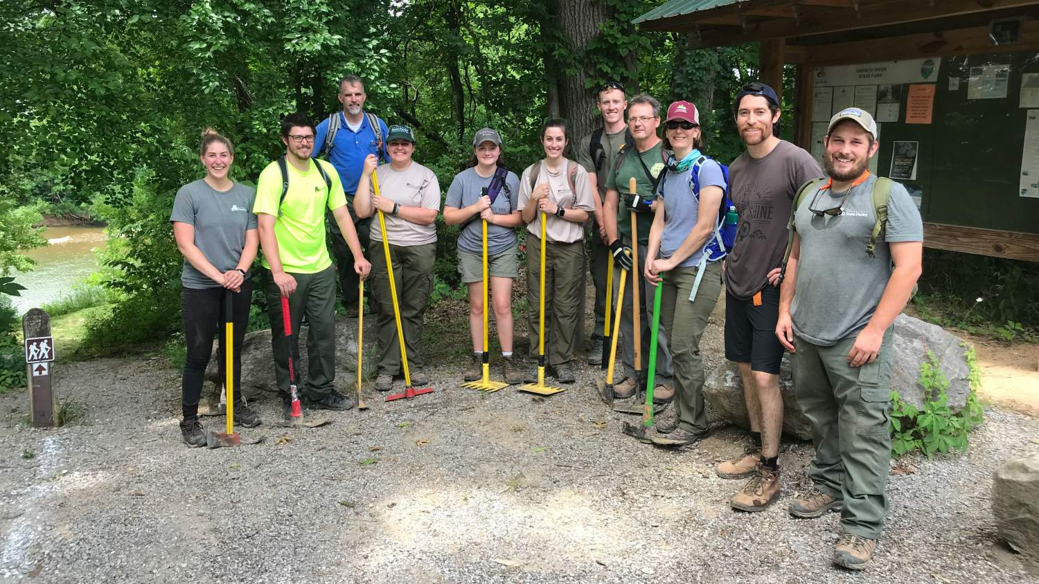 Harpeth Volunteers: Trail Building at Harpeth River State Park