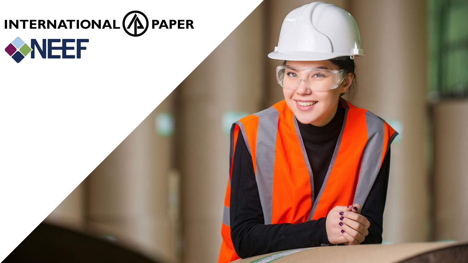 Woman at paper mill