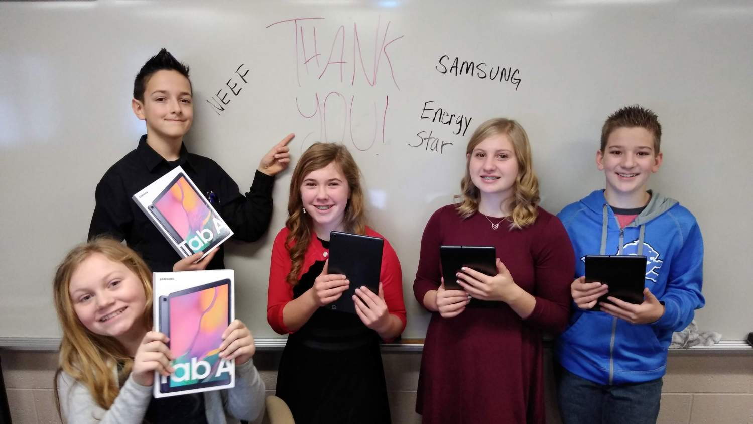 Student winners of the Samsung Climate Superstars Challenge!