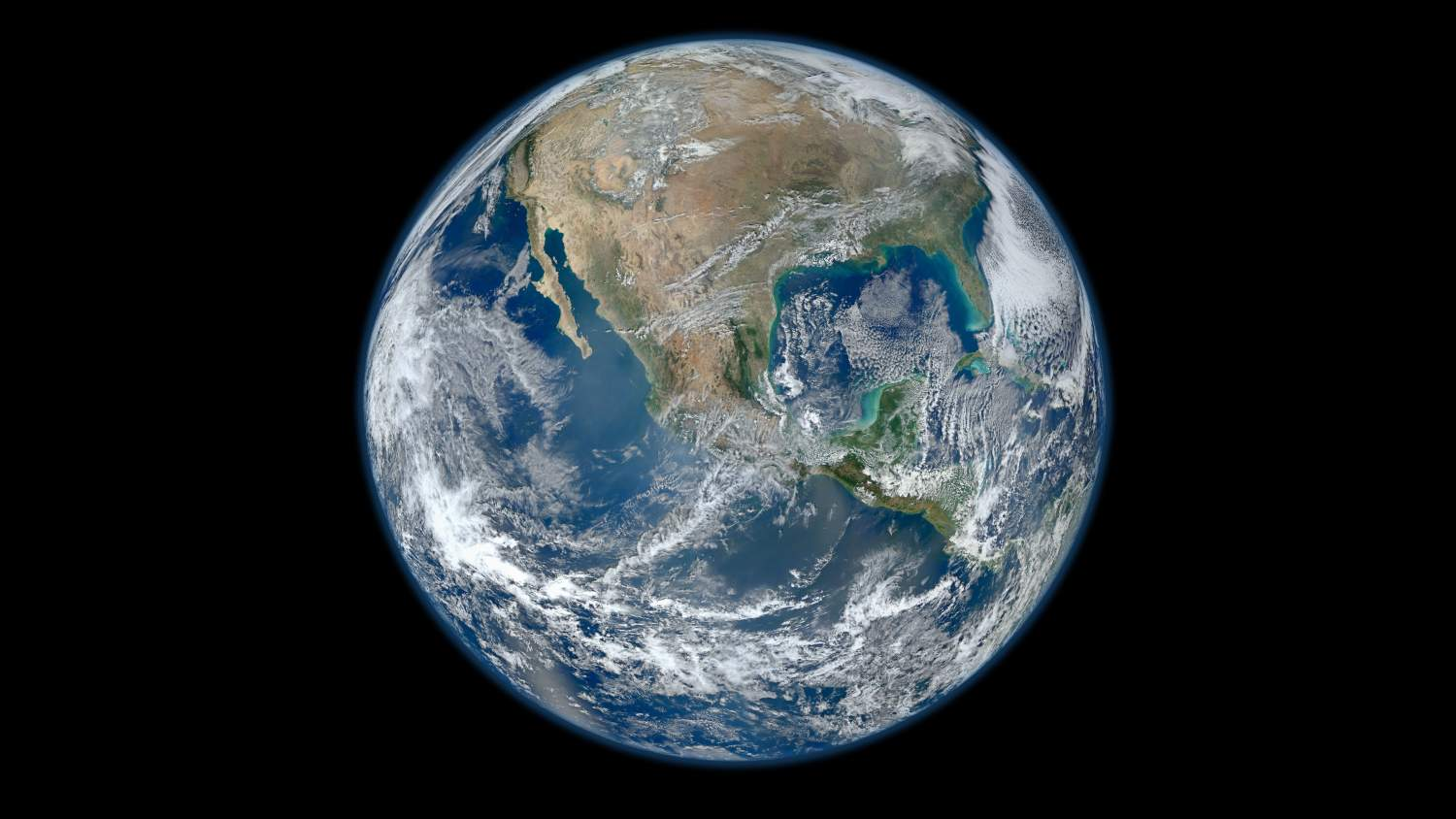 A 'Blue Marble' image of the Earth