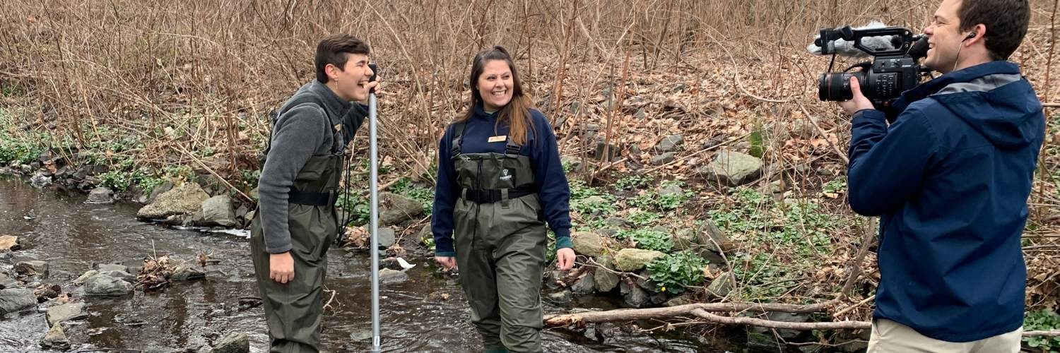 Benjamin Franklin Middle School students at Teaneck Creek in New Jersey