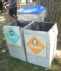 Recycling bins
