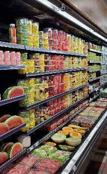 Plastic packaging used in grocery stores
