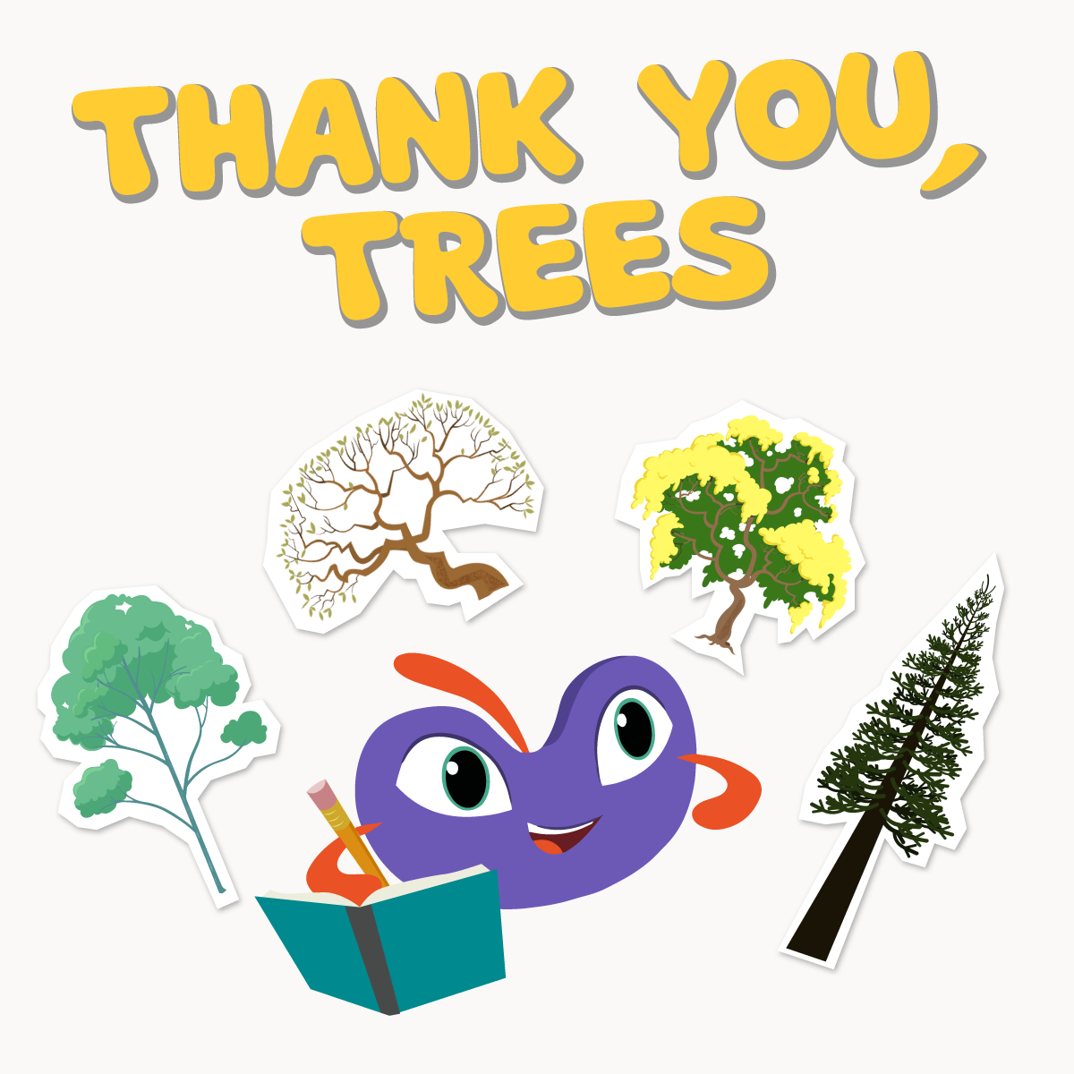 Thank you trees promotional graphic