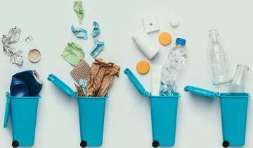 Different recyclable materials