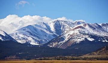 Snowpack on mountains