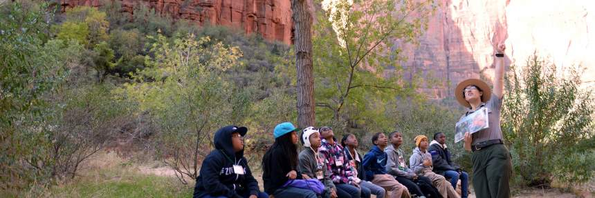 Youth program at Zion National Park