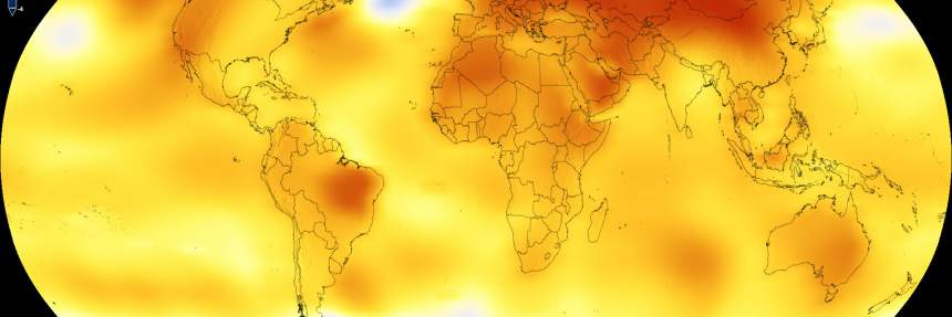 Earth's average global temperature