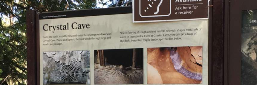 Hard of hearing options at Crystal Cave in Sequoia National Park