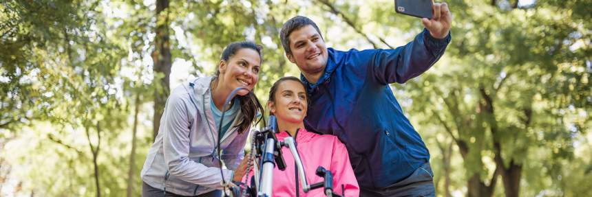 Park selfie with the family | Public Lands Engagement: A Focus on Accessibility