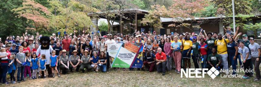 Group picture of NPLD volunteers at Rock Creek Park