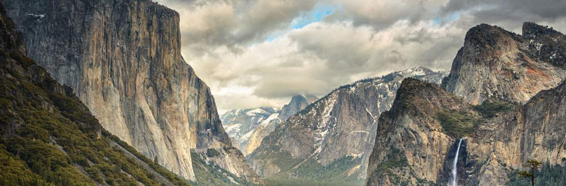 Stormy Clouds over Tunnel View in Yosemite