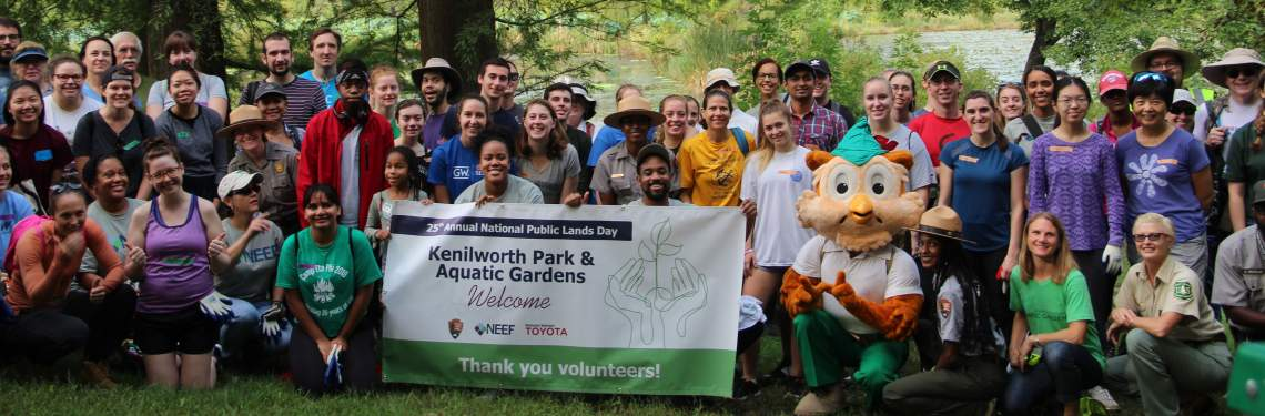 Group picture of Kenilworth Volunteers at NPLD 2018