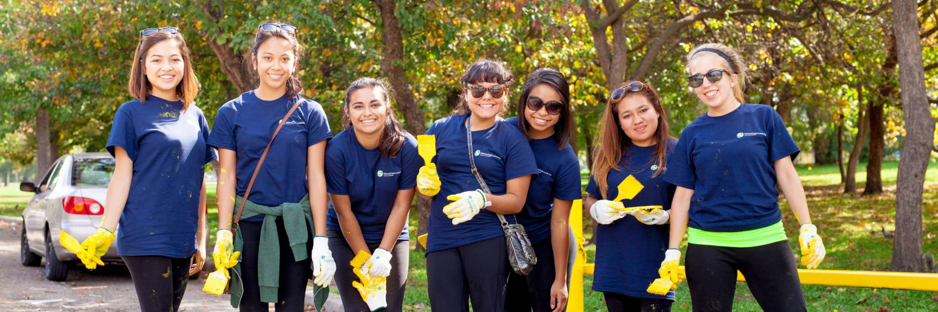 Teen volunteers at an NPLD event in Chicago