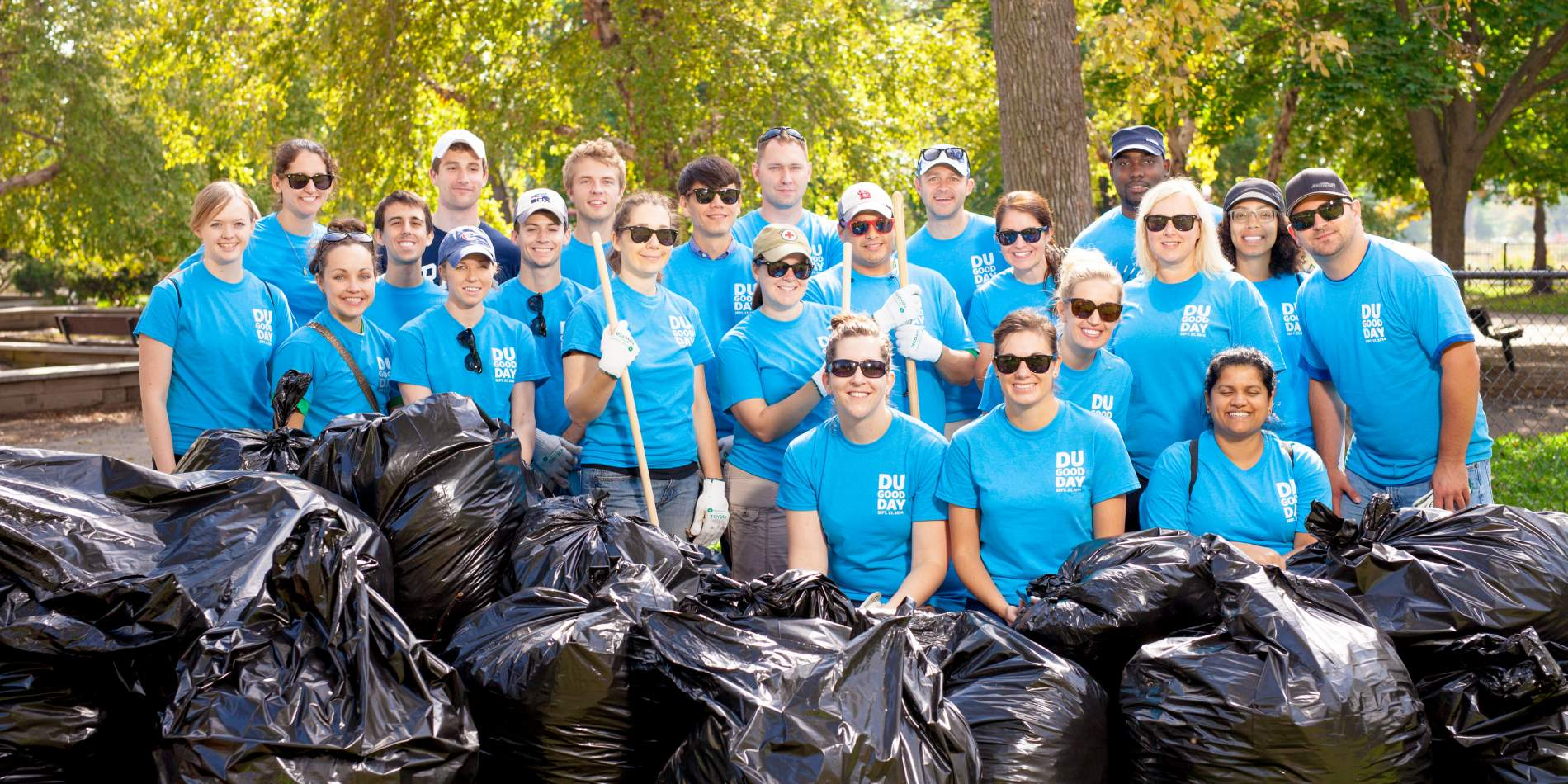Volunteers at a Humboldt Park, Chicago for NPLD
