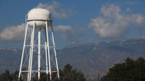 Water tank in the mountains