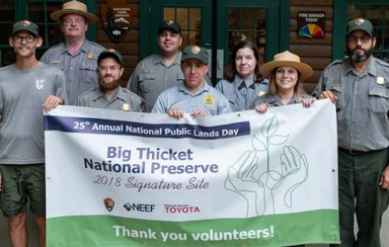 National Public Lands day 2018 at Big Thicket National Preserve