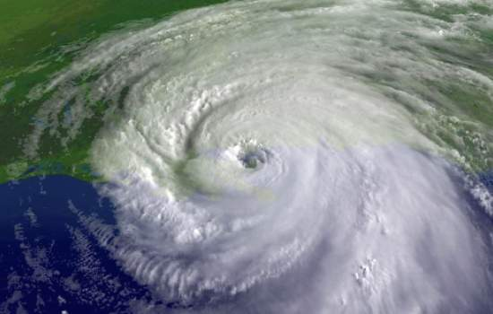 Satellite imagery of Hurricane Katrina